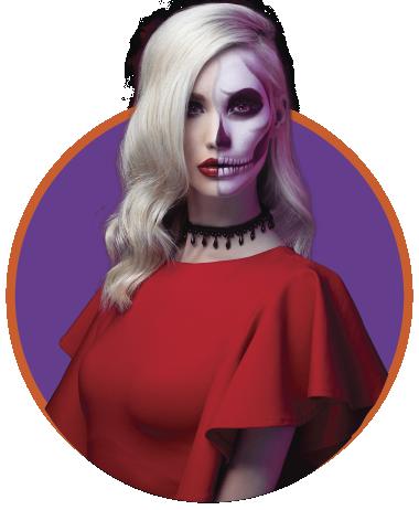 Mujer halloween en Viva La Ceja