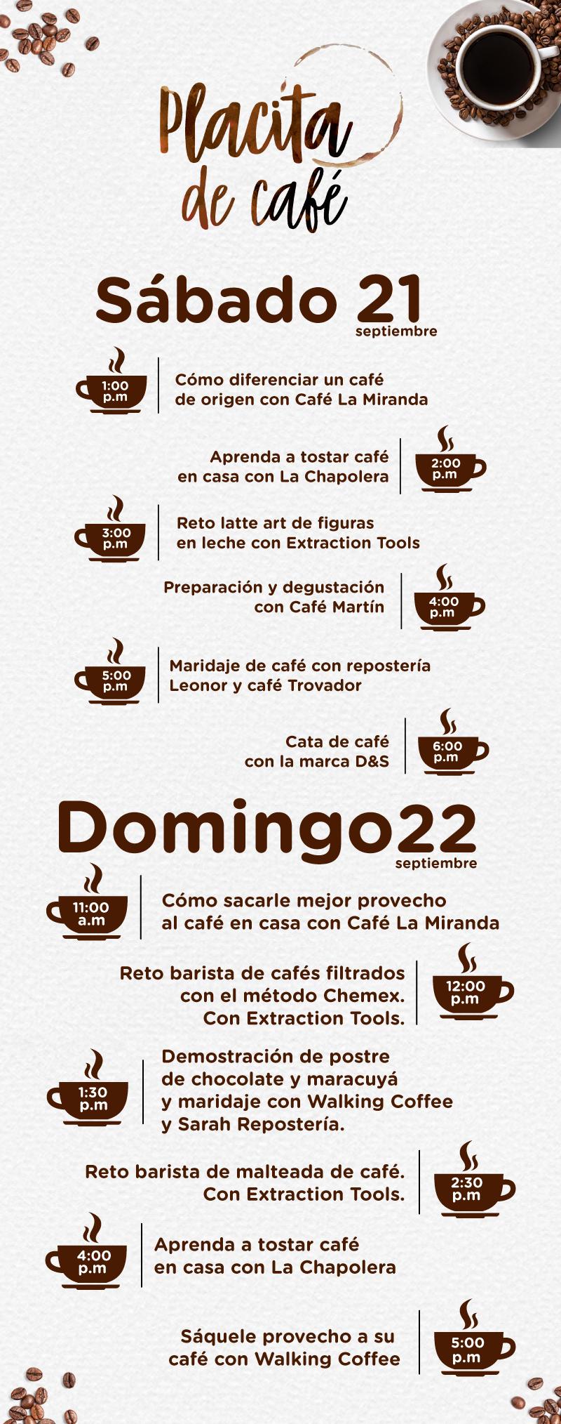 Información Placita de Café en Viva Palmas