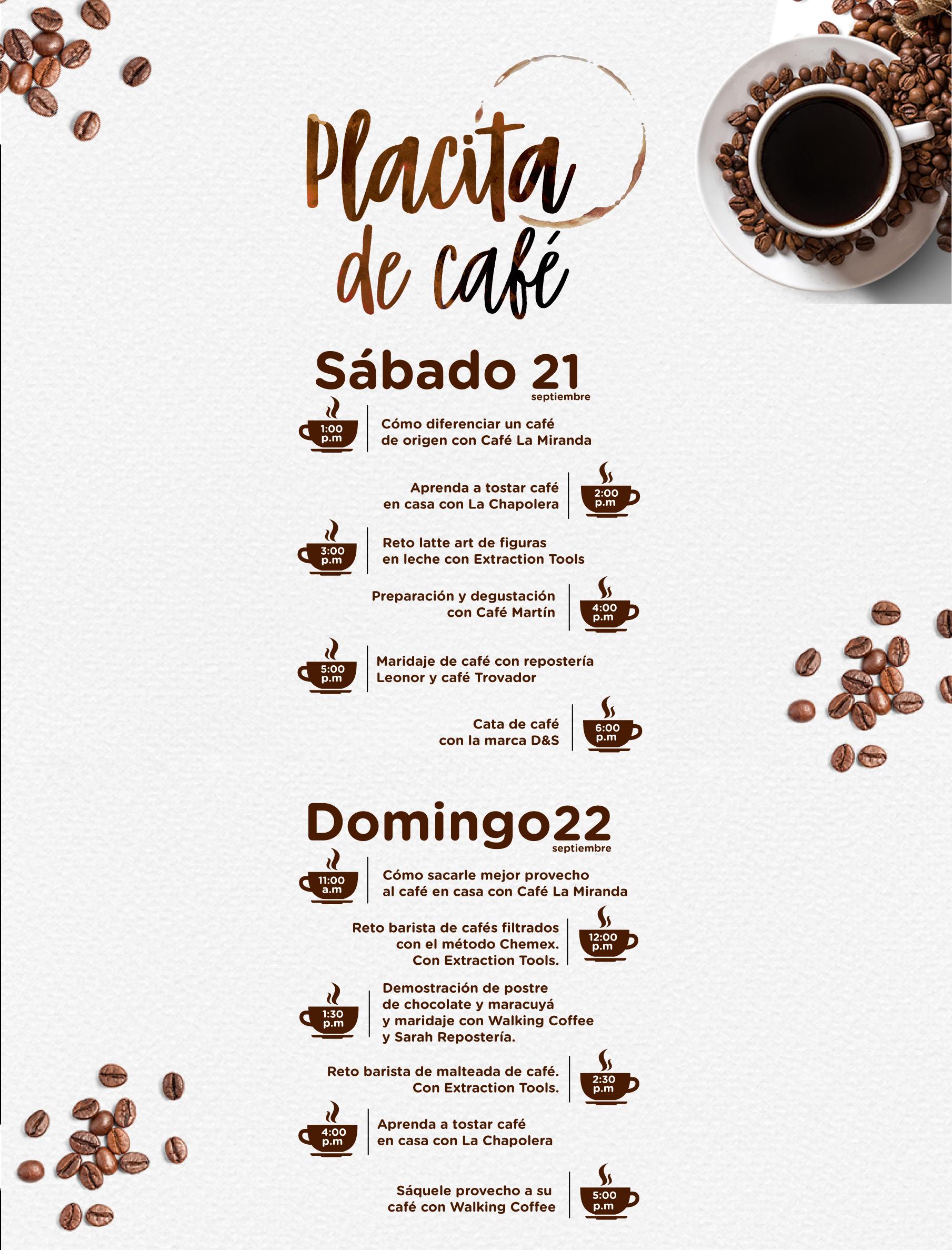 Placita de café en Viva Palmas