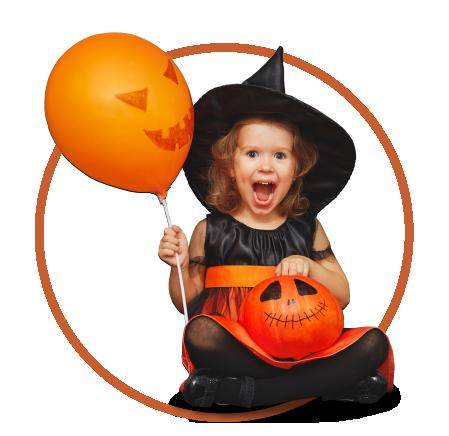 Niña bruja Halloween