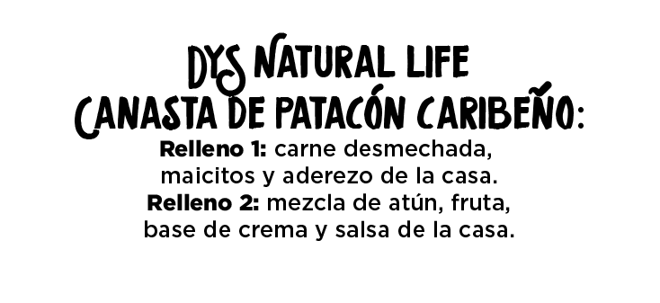 Canasta de patacón caribeño
