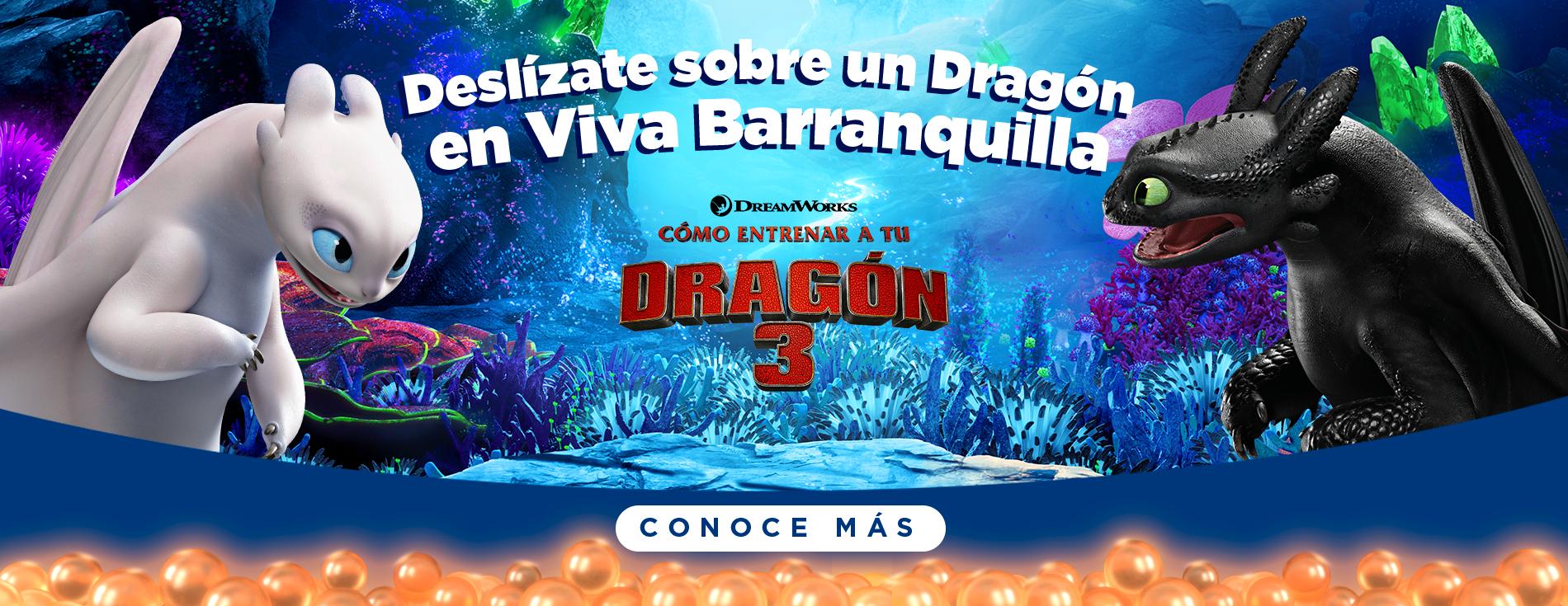 Cómo Entrenar a tu Dragón 3 - Barranquilla